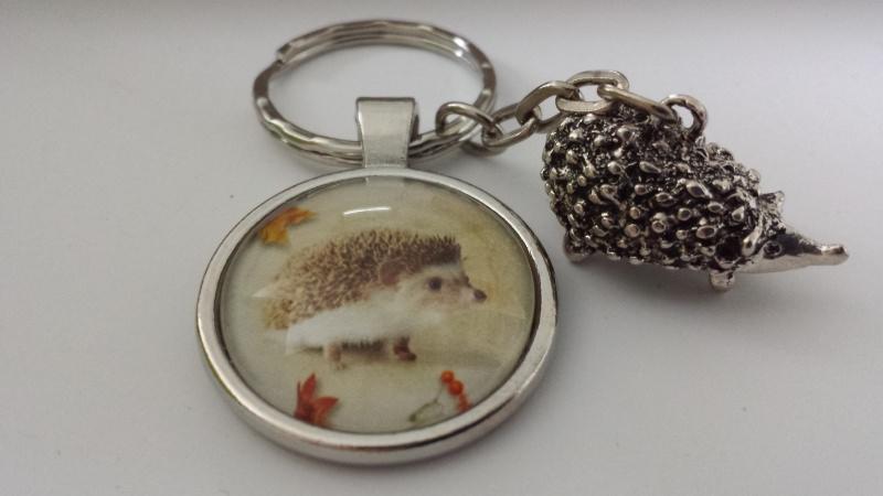 Kleinesbild - Igel Schlüsselanhänger handgefertigt Tieranhänger Accessoire Geschenk Frauen Kinder Erzieherin