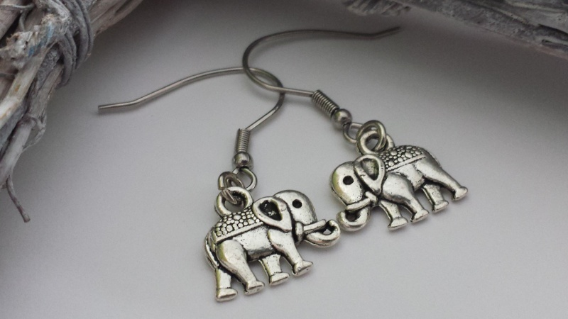 - Elefanten Ohrschmuck Ohrhänger Yoga Buddha Om Geschenk Frauen Freundin Yogalehrerin - Elefanten Ohrschmuck Ohrhänger Yoga Buddha Om Geschenk Frauen Freundin Yogalehrerin