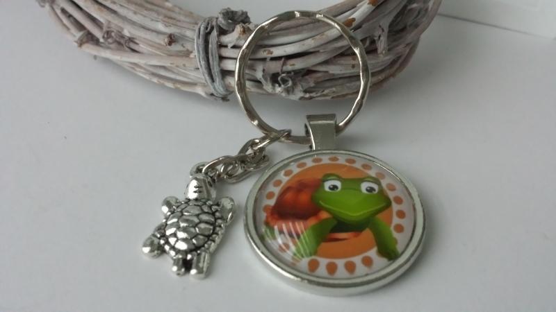 Kleinesbild - Schildkröte Schlüsselanhänger handgefertigt Accessoire Geschenk für Kinder Frauen Männer