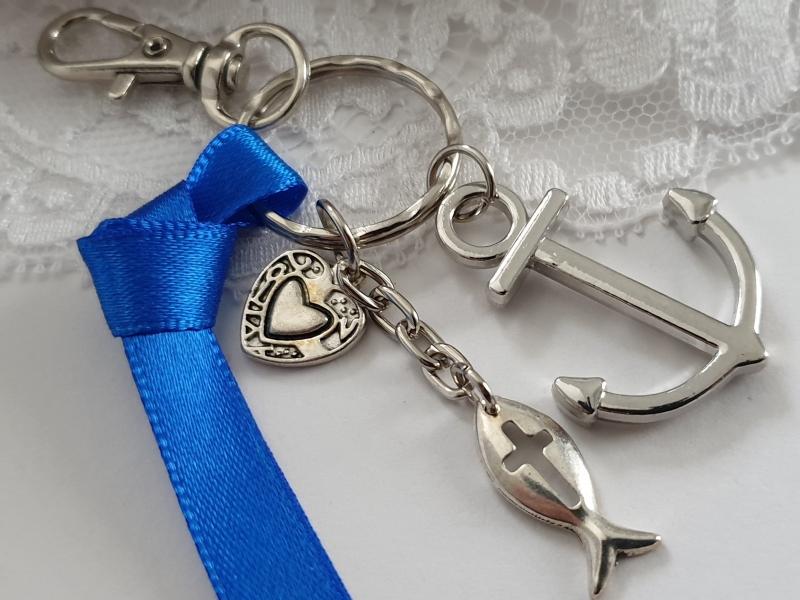 Kleinesbild - Glaube Liebe Hoffnung Schlüsselanhänger handgefertigt Geschenk Männer Jungen Kommunion Konfirmation Religion
