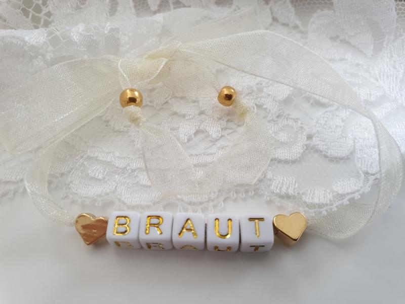 - Braut Armband mit Buchstaben Perlen zum Binden handgefertigt Herzen JGA Hochzeit Bride to be Geschenk Frauen Heiraten - Braut Armband mit Buchstaben Perlen zum Binden handgefertigt Herzen JGA Hochzeit Bride to be Geschenk Frauen Heiraten