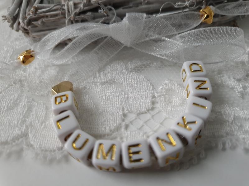 - Niedliches Armband für das Blumenkind Hochzeit Buchstaben Perlen zum Binden handgefertigt Herz Geschenk Mädchen Blumen streuen - Niedliches Armband für das Blumenkind Hochzeit Buchstaben Perlen zum Binden handgefertigt Herz Geschenk Mädchen Blumen streuen