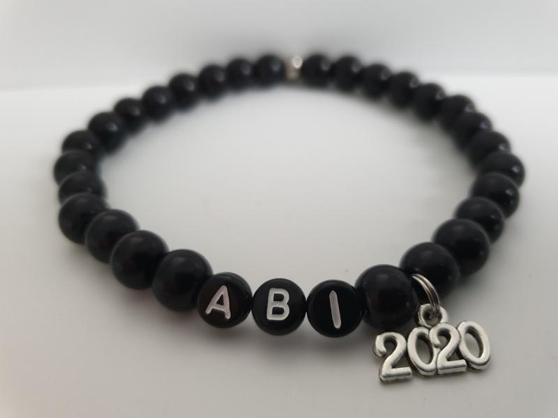 Kleinesbild - Abitur 2021 Armband handgefertigt Geschenk Männer Freund Sohn Lehrer zur Erinnerung Schulzeit Abi