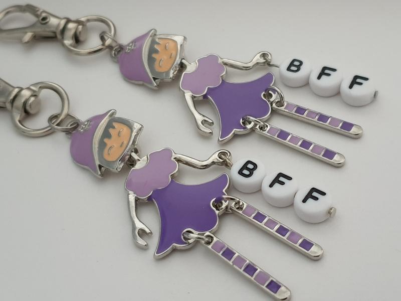 Kleinesbild - Beste Freundin BFF Schlüsselanhänger Set Geschenk Mädchen Frauen Danke Freundschaftsgeschenk