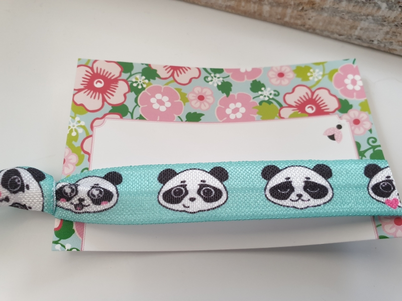 Kleinesbild - Pandabär Haargummi Charms Geschenkset Mädchen Frauen Geburtstag kleines Ostergeschenk