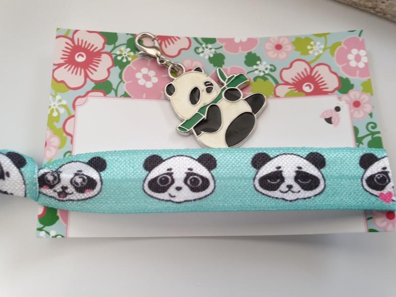 - Pandabär Haargummi Charms Geschenkset Mädchen Frauen Geburtstag kleines Ostergeschenk - Pandabär Haargummi Charms Geschenkset Mädchen Frauen Geburtstag kleines Ostergeschenk