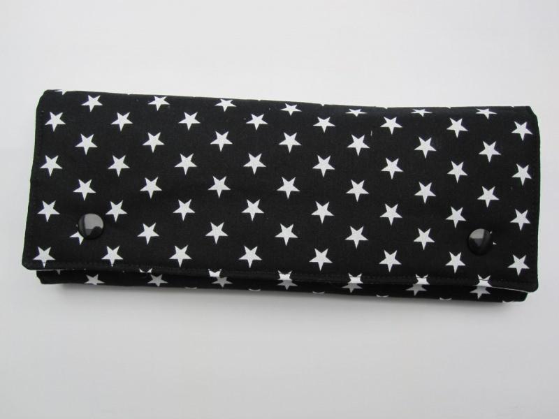 Kleinesbild - Schmuckrolle schwarz-weiß, Schmuckaufbewahrung, Etui,
