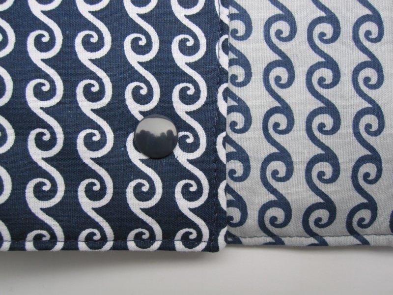 Kleinesbild - Schmuckrolle blau-weiß, Schmuckaufbewahrung, Etui,