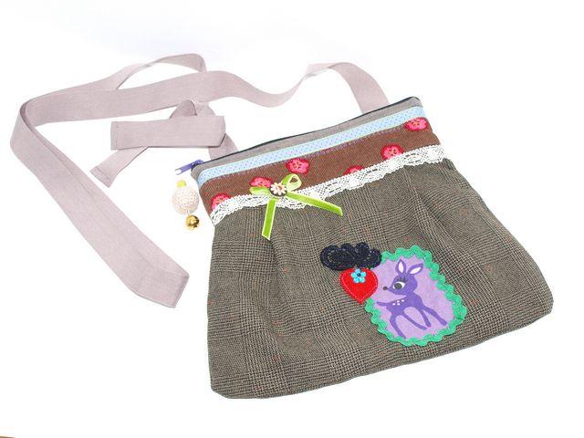 Kleinesbild - Umhängetasche  Reh kleine Trachtentasche, Dirndl Tasche handgemacht