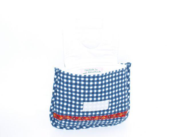 Kleinesbild - Gürteltasche Karo-line  Dirndl Täschchen aus Baumwollstoff mit einem kleinen Bildchen