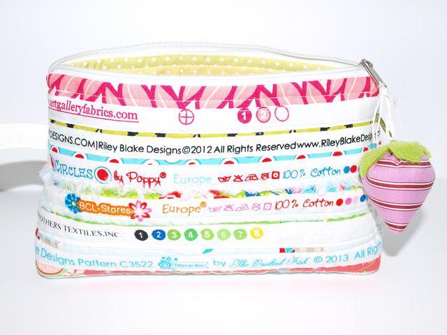Kleinesbild - Kosmetiktasche Una Schminktäschchen aus Baumwoll Webbändern