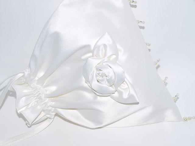 Kleinesbild - Pompadour Forever cremefarbener Beutel handgemachtes Einzelstück