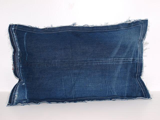 Kleinesbild - Kissenbezug Jeans Raw upcycling Dekokissen handgemacht aus used Jeans