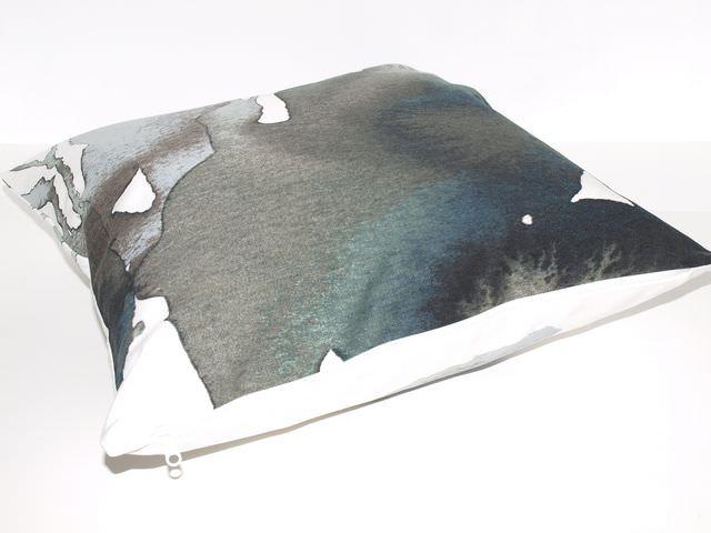 Kleinesbild - Kissenbezug Ink  mit Reißverschluss, Baumwoll Kissenhülle handgemacht