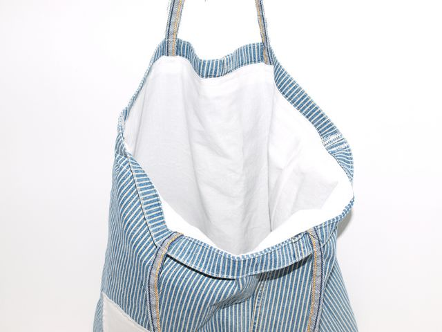 Kleinesbild - Jeanstasche Recycling Jeans Shopper upcycling Tasche aus used Jeans