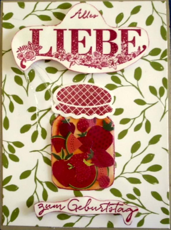 - Handgemachte, sehr aufwendig gestaltete Geburtstagskarte - Handgemachte, sehr aufwendig gestaltete Geburtstagskarte