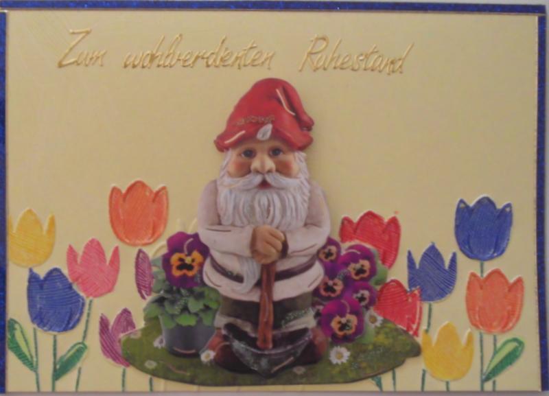 - Süße, selbstgemachte Karte zum Ruhestand - Süße, selbstgemachte Karte zum Ruhestand