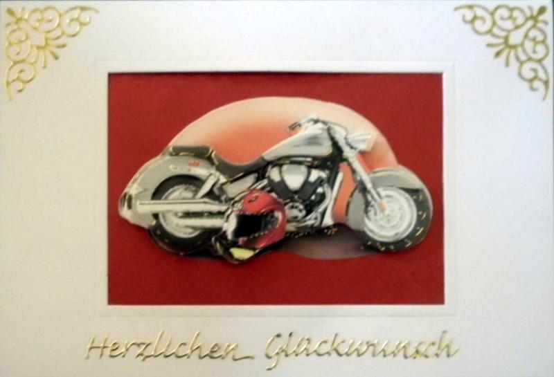 - Handgemachte Karte zum bestandenen Motorradführerschein - Handgemachte Karte zum bestandenen Motorradführerschein