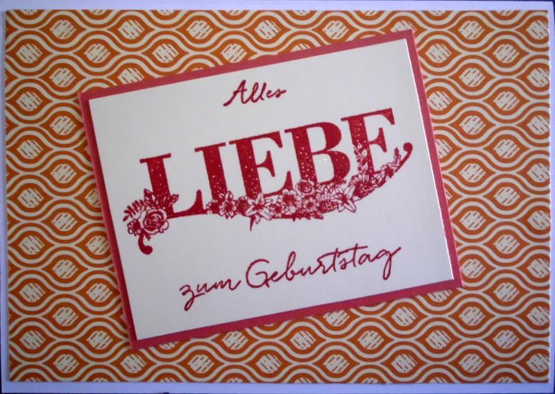 - Handgemachte Glückwunschkarte, schlicht und edel, zum Geburtstag - Handgemachte Glückwunschkarte, schlicht und edel, zum Geburtstag
