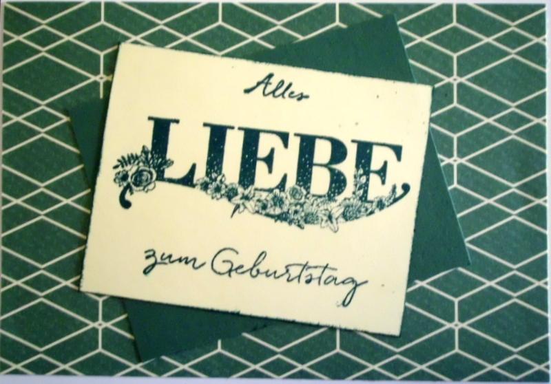 - Handgemachte,schlichte Geburtstagskarte für einen Herrn - Handgemachte,schlichte Geburtstagskarte für einen Herrn