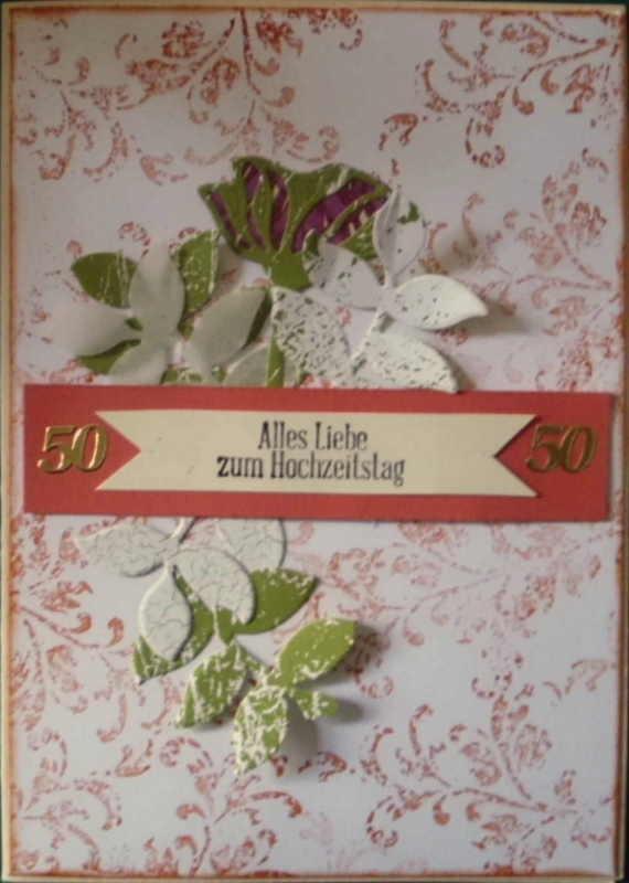- Handgemachte Karte zur goldenen Hochzeit - Handgemachte Karte zur goldenen Hochzeit