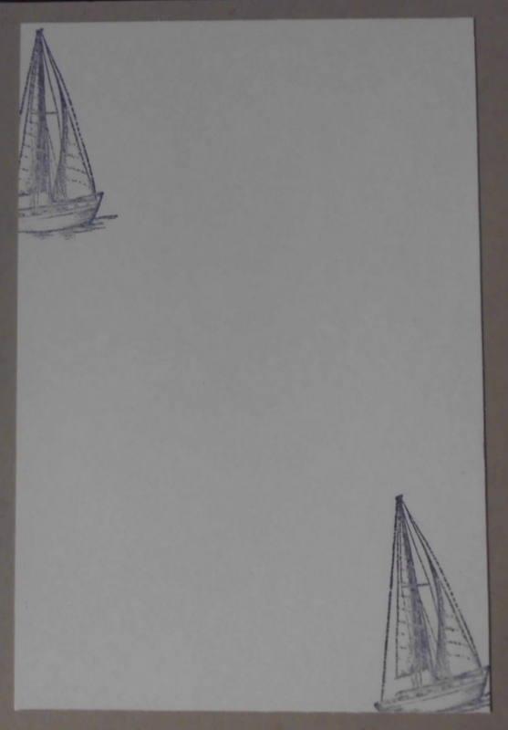 Kleinesbild - Hübsche, selbstgestaltete Grußkarte mit vielen Details für Nordlichter