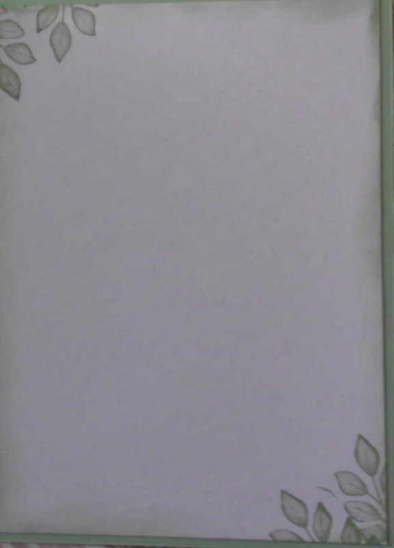 Kleinesbild - Selbstgemachte Karte mit diversen Blättern auf Mauerwerk
