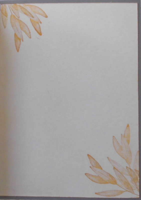 Kleinesbild - Selbstgefertigte Karte mit Blättern in Gelbtönen