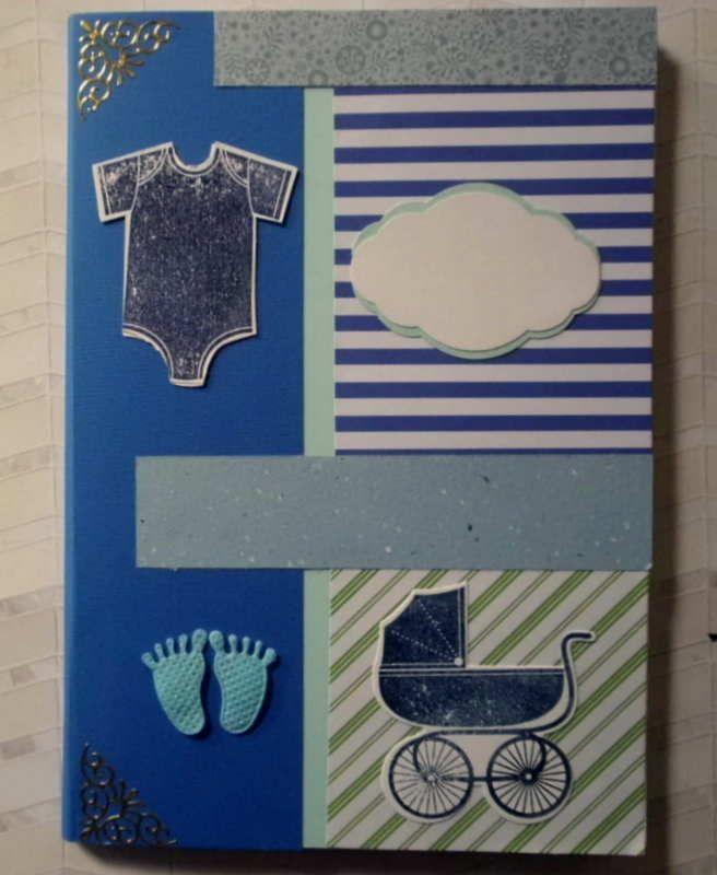 - Niedliches, selbstgestaltetes Babyalbum in Blau- und Grüntönen - Niedliches, selbstgestaltetes Babyalbum in Blau- und Grüntönen