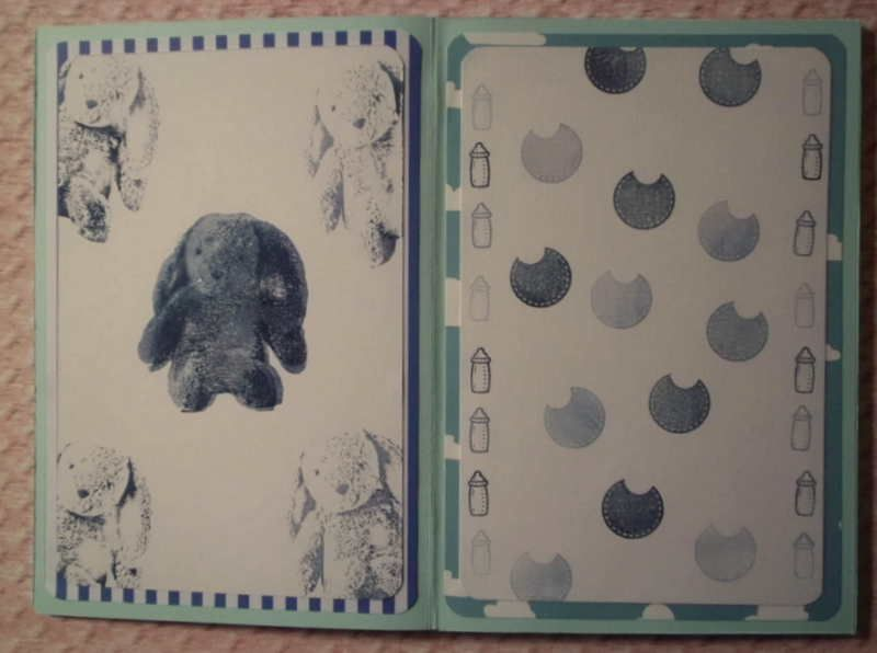 Kleinesbild - Niedliches, selbstgestaltetes Babyalbum in Blau- und Grüntönen