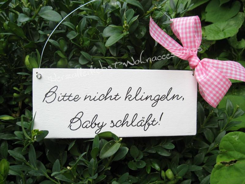 - Bitte nicht klingeln, Baby schläft!   Türschild aus Holz - Bitte nicht klingeln, Baby schläft!   Türschild aus Holz