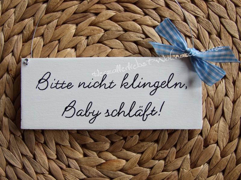 Kleinesbild - Bitte nicht klingeln, Baby schläft!   Türschild aus Holz