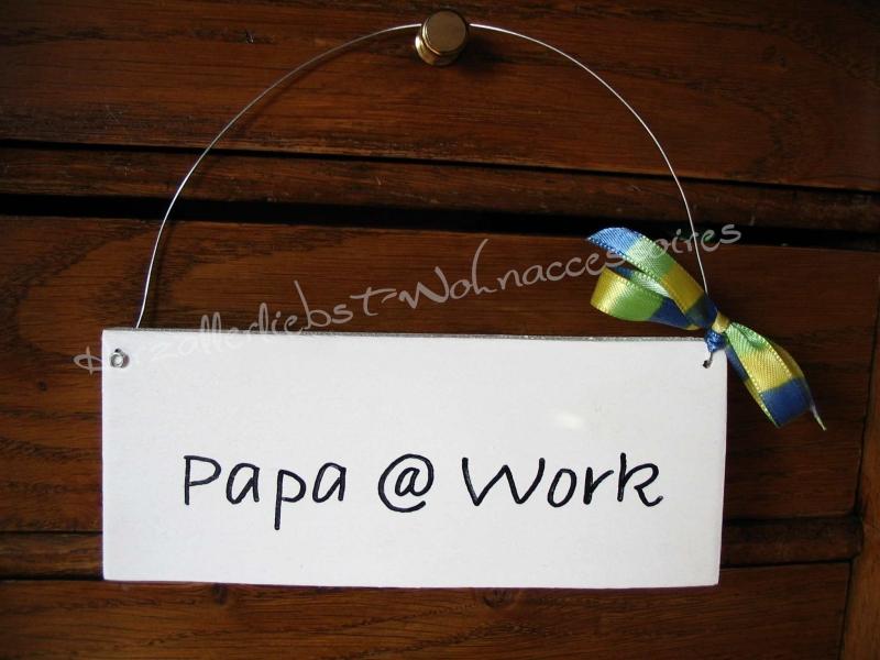 Kleinesbild - Türschild mit Wunschtext ♥ Türschild aus Holz ♥ weiß