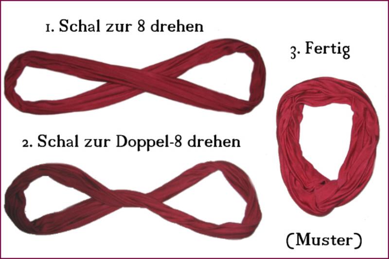 Kleinesbild - SeidenSchlauchschal,  Schwarz, Schlauchschal, Seidenschal, Multifunktionsschal