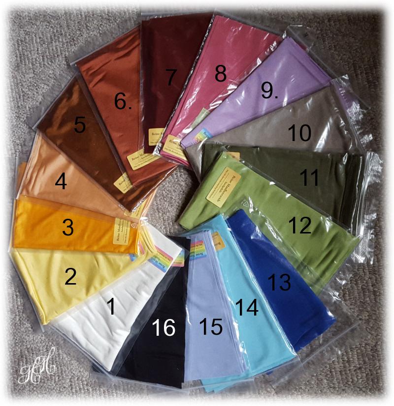 Kleinesbild - SeidenSchlauchschal, einfarbig, Sommerschal, Farbwahl