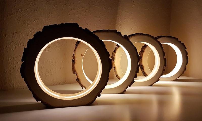 Wohnen Circle Light Led Leuchte Tischlampe Dekolampe