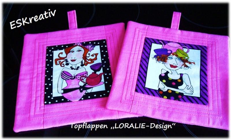 Kleinesbild - Topflappen-Set im LORALIE-Design / 2-teilig / Geschenk für Hobbyköchinnen
