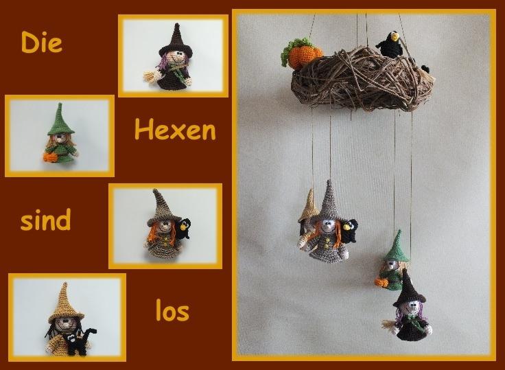 "-    ♡ Häkelanleitung ""Die Hexen sind los"" ♡ , Amigurumi, Gehäkeltes, Hexen -    ♡ Häkelanleitung ""Die Hexen sind los"" ♡ , Amigurumi, Gehäkeltes, Hexen"