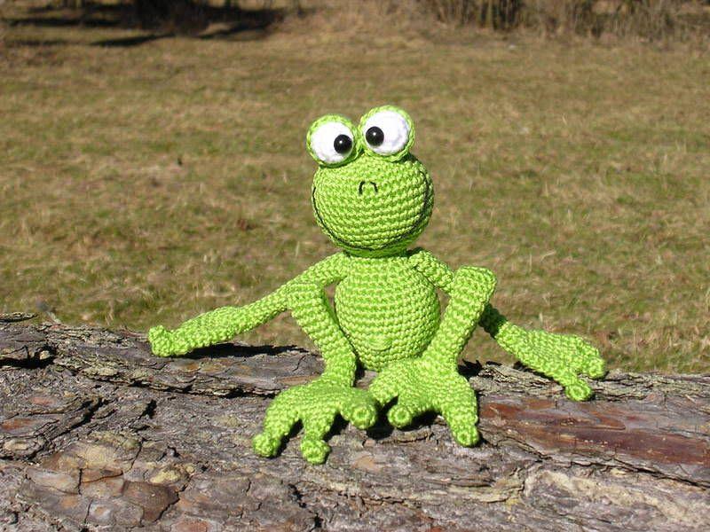 """Kleinesbild -     ♡ Häkelanleitung """"Froschkönig Arthur"""" ♡ , Amigurumi, Gehäkeltes, Frosch, Froschkönig"""