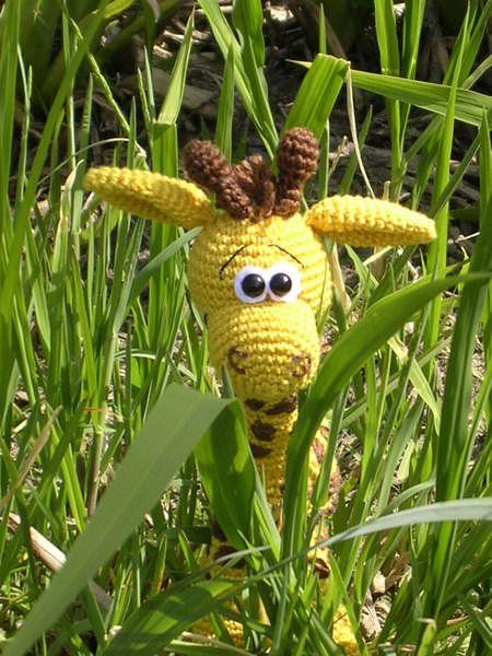 "Kleinesbild -    ♡ Häkelanleitung ""Gisela Giraffe"" ♡ , Amigurumi, Gehäkeltes, Giraffe"