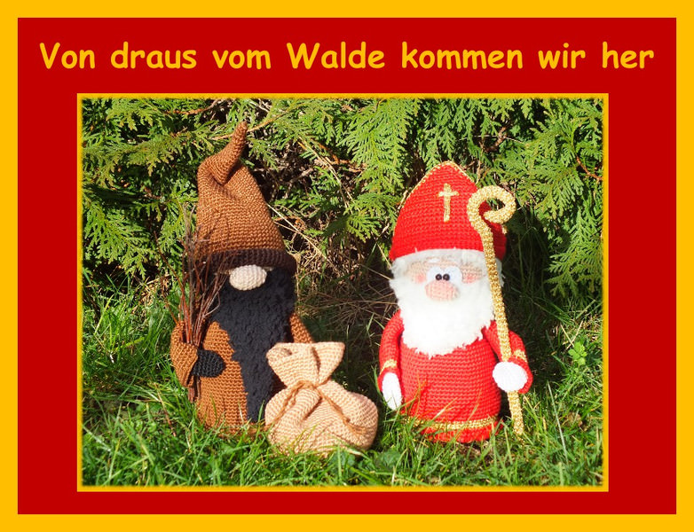 Amigurumi Puppen Weihnachten DIY Häkeln Häkelanleitung | 600x782