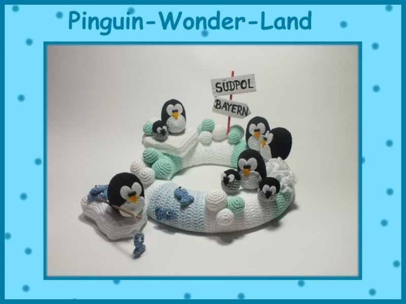 """-       ♡ Häkelanleitung """"Pinguin-Wonder-Land"""" ♡ Pinguine, Tischkranz, Amigurumi, Gehäkeltes -       ♡ Häkelanleitung """"Pinguin-Wonder-Land"""" ♡ Pinguine, Tischkranz, Amigurumi, Gehäkeltes"""