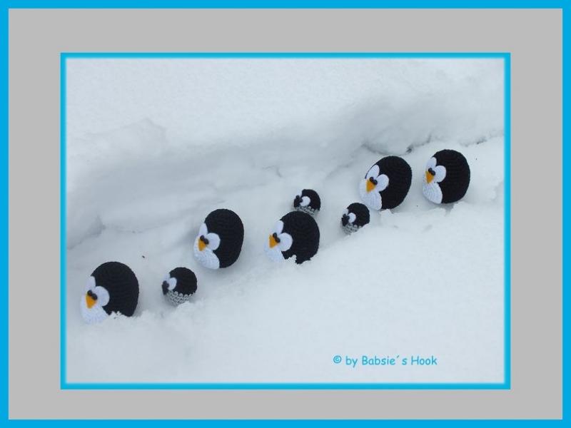 """Kleinesbild -       ♡ Häkelanleitung """"Pinguin-Wonder-Land"""" ♡ Pinguine, Tischkranz, Amigurumi, Gehäkeltes"""