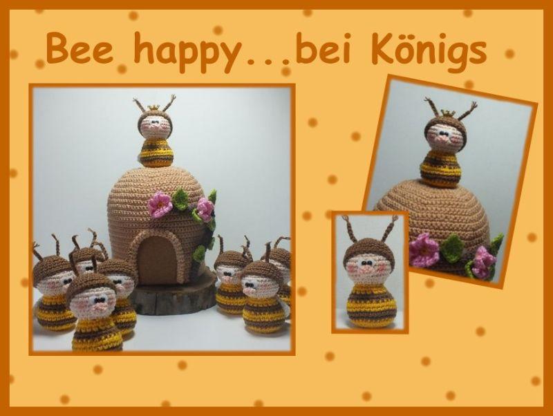 "-       ♡ Häkelanleitung ""Bee happy...bei Königs"" ♡ Biene, Bee, Honig, Amigurumi, Gehäkeltes -       ♡ Häkelanleitung ""Bee happy...bei Königs"" ♡ Biene, Bee, Honig, Amigurumi, Gehäkeltes"