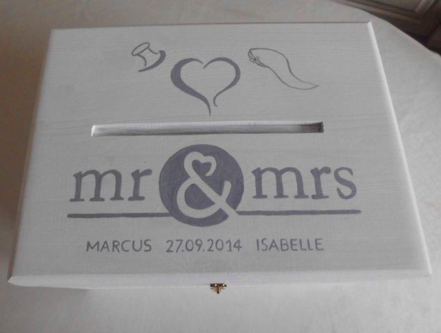 - Hochzeit Kiste Briefkasten Erinnerungskiste NurVonMir ♡ - Hochzeit Kiste Briefkasten Erinnerungskiste NurVonMir ♡