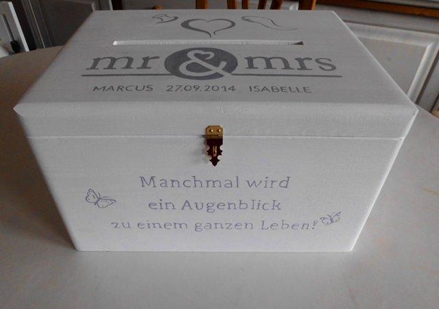 Kleinesbild - Hochzeit Kiste Briefkasten Erinnerungskiste NurVonMir ♡