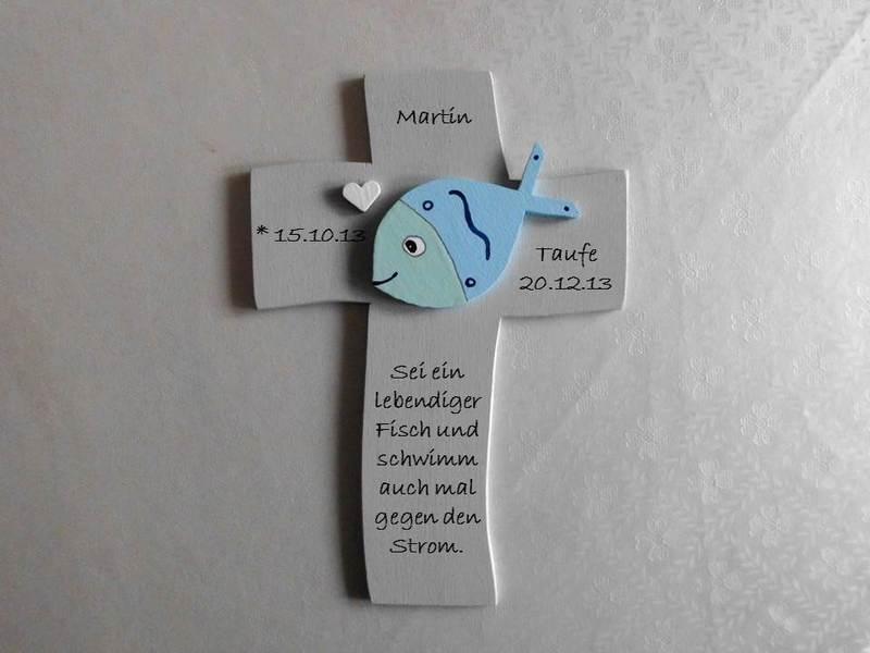 - Taufkreuz Kreuz mit niedlichem 3D Fisch Taufe Kommunion NurVonMir ♡ - Taufkreuz Kreuz mit niedlichem 3D Fisch Taufe Kommunion NurVonMir ♡