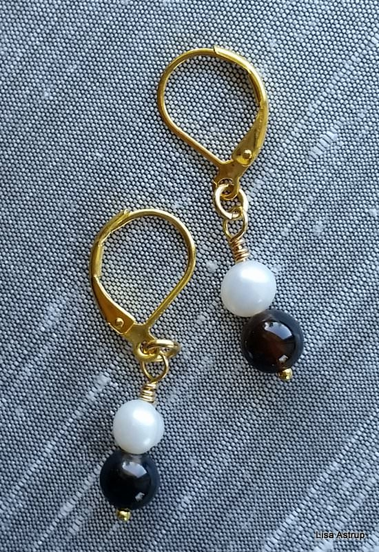 - Agathes Earrings, white pearls earrings - Agathes Earrings, white pearls earrings