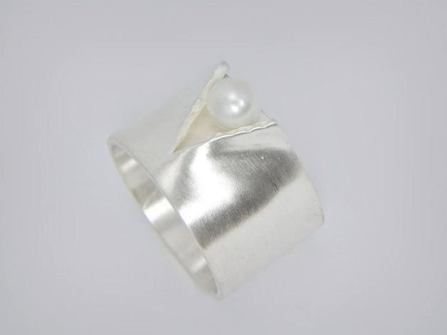 Silber Begeistert Handarbeit Sehr Große Ausgefallene Vintage Designer Brosche 925 Silber Broschen