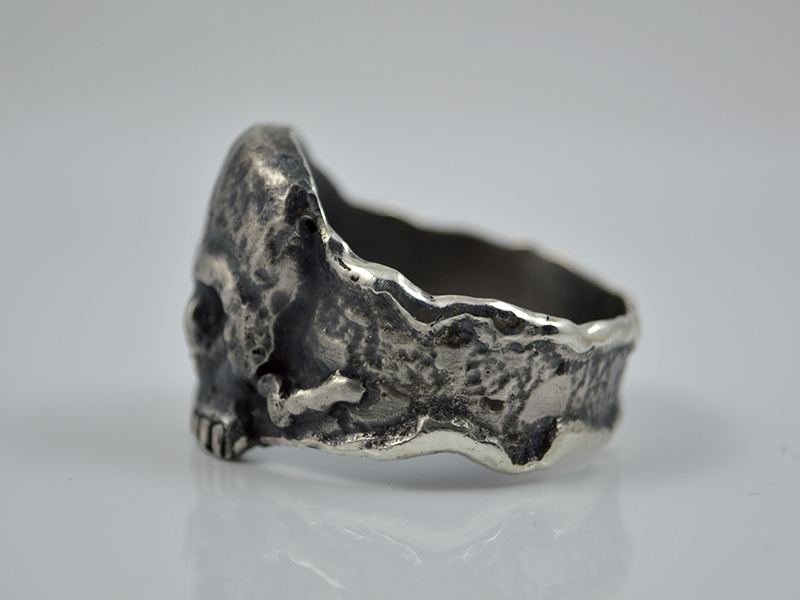 Kleinesbild - Skullring ★ Calavera ★ Handgefertigt Unikat/ Sterling Silver